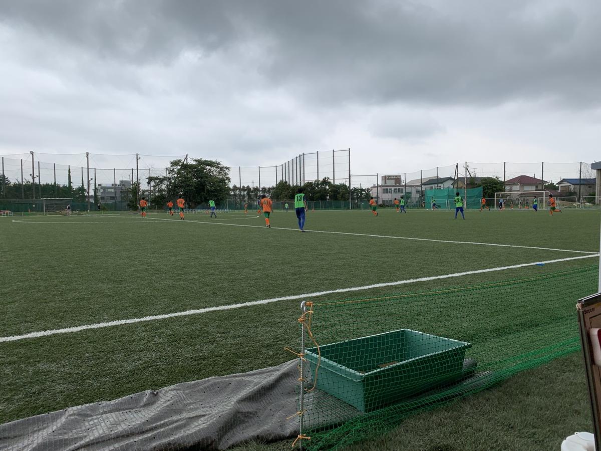 サッカー千葉県中体連トレセンのトレーニングマッチの画像